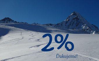 Darujte 2%